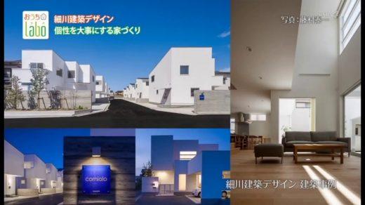 2017年10月14日放送 細川建築デザイン「デザインと機能性を両立した家」